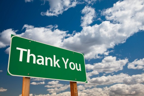 Thank You (road sign)