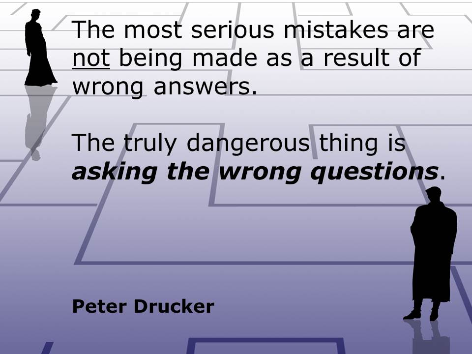 Questions Drucker Quote Allthingslearning