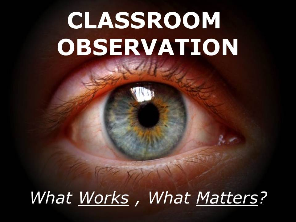 CLASSROOM OBSERVATION – What Works, What Matters? | allthingslearning