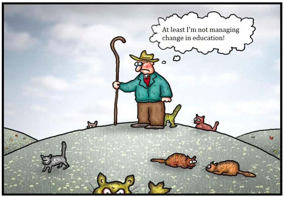 At least you're not managing change in education