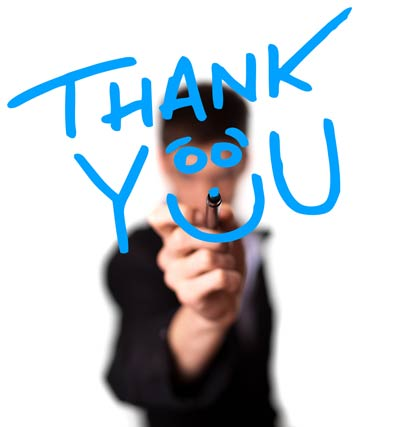 Thank you (glass image)