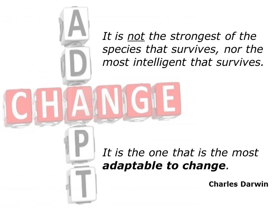 Charles Darwin Adaptation Quote
