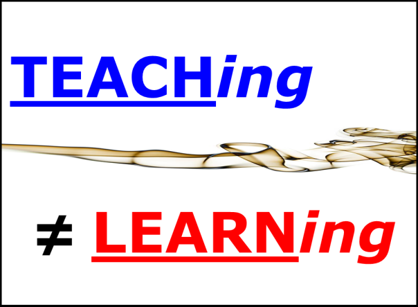 LEARNing vs TEACHing 01