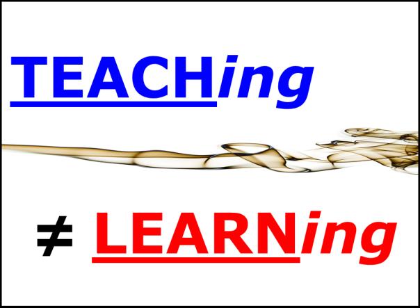 LEARNing vs TEACHing 01