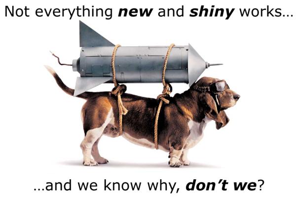 New and Shiny (rocket dog)