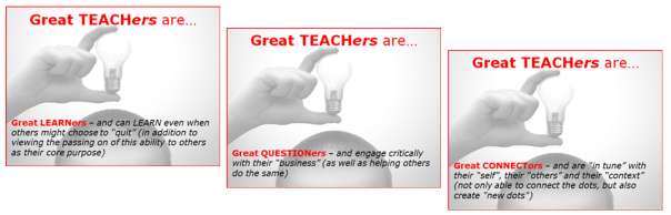 GREAT TEACHERS three-in-one