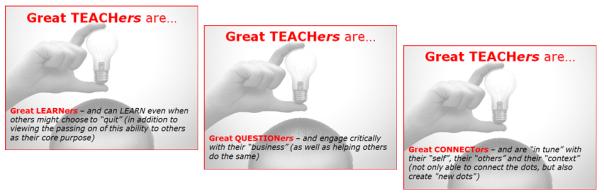 GREAT TEACHERS three-in-one