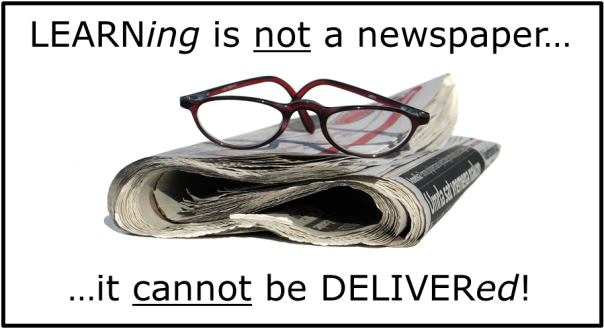 LEARNing not a newspaper