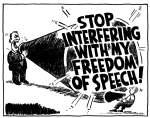 Freedom of speech (megaphonecartoon)