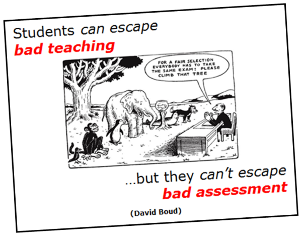 Bad ASSESSMENT (Boud QUOTE)