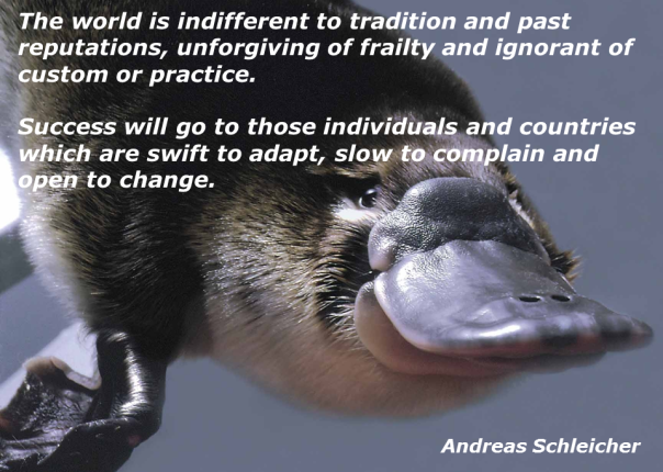 Dodo and change (Schleicher quote)