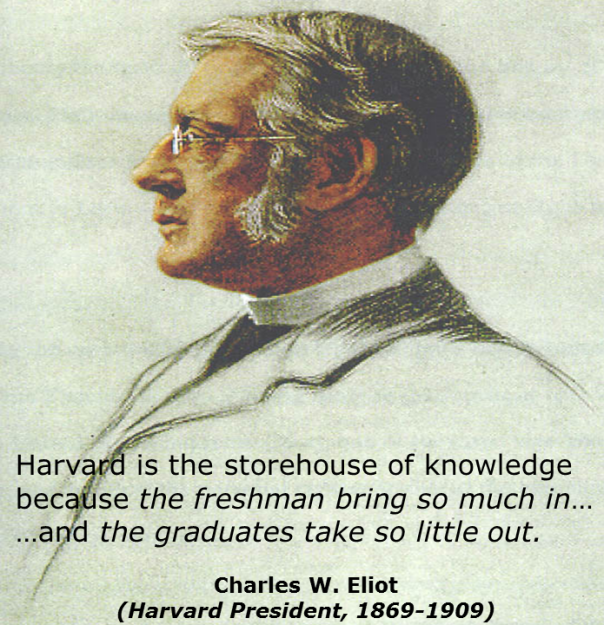 Harvard (Eliot quote)
