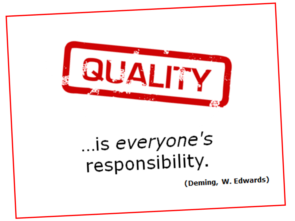 Could it be our understanding of 'Quality'…that is BROKEN ...