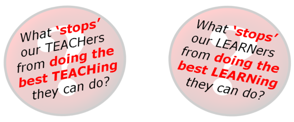 What STOPS (teachers and learners)