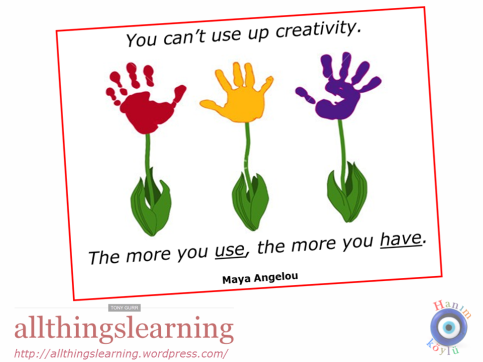 Creativity (Angelou quote - NEW)