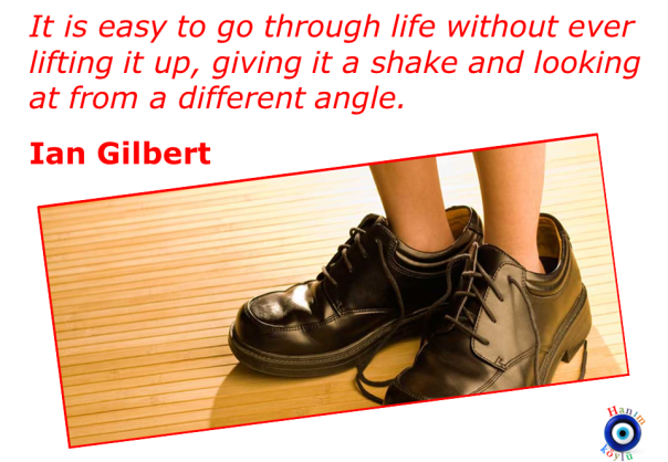 Looking differently (Gilbert quote)