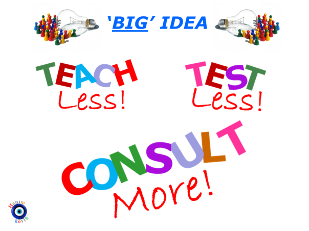 TEACH less CONSULT more