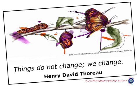 Change (David Thoreau quote)