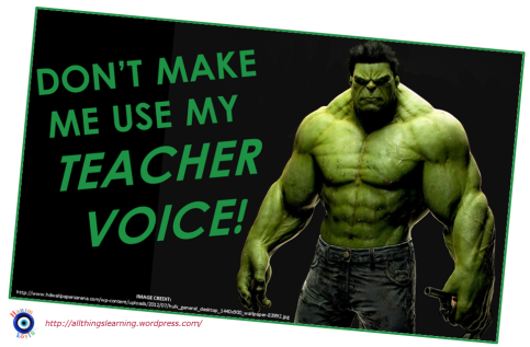 Dont make me use my TEACHer voice (TG ver)