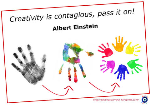 Creativity (Einstein quote 01)