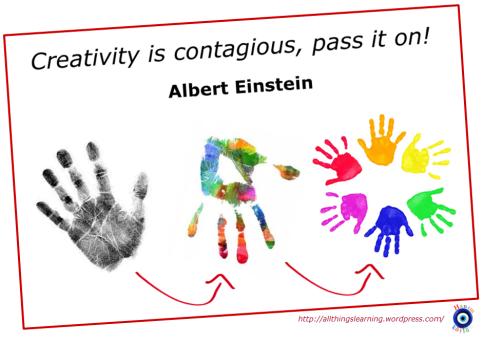 Creativity (Einstein quote 01)