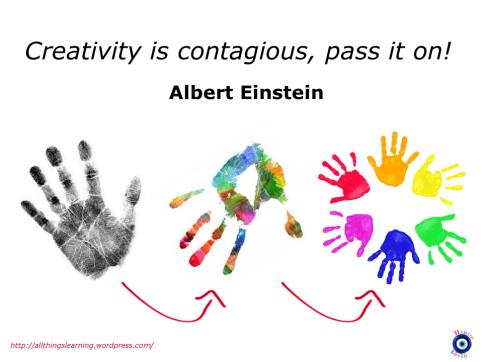 Creativity (Einstein Quote ver 03)