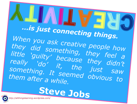 Creativity (Steve Jobs quote 01)