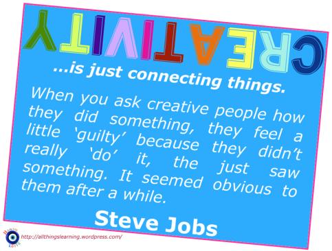 Creativity (Steve Jobs quote 01)