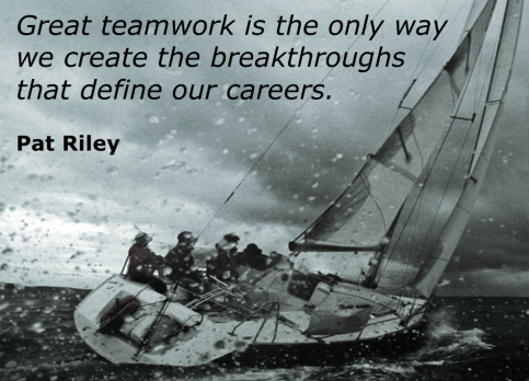 Sailing and Teamwork (Pat Riley quote 01)
