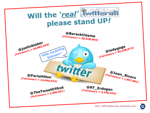 Twitter Blog Post 15 (The REAL Twitterati)