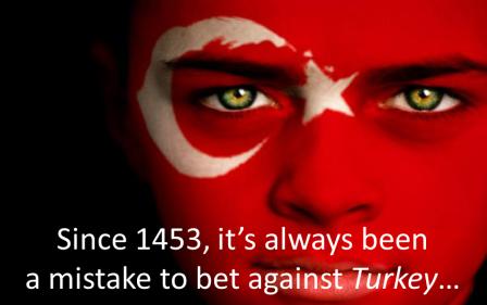 Betting against canım Türkiyem